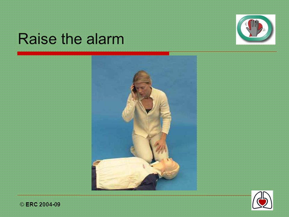 Raise the alarm © ERC