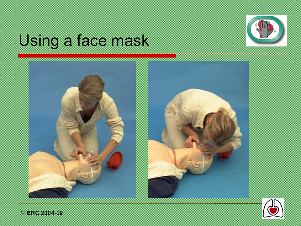 Using a face mask © ERC 2004-09