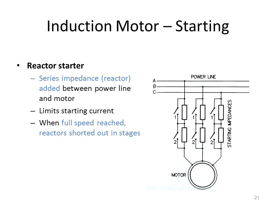 Induction Motor – Starting