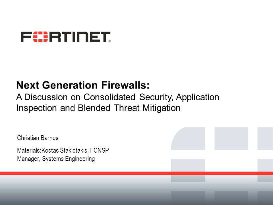 Next Generation Firewalls: