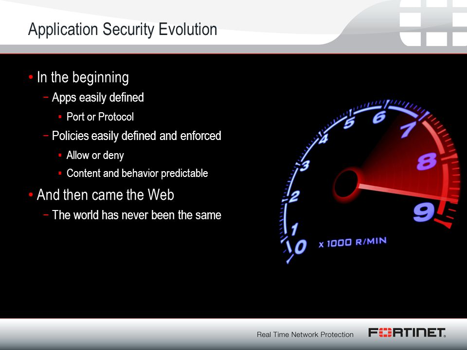 Application Security Evolution