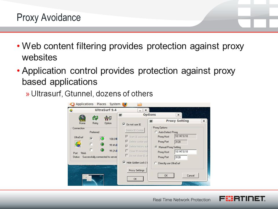 Proxy Avoidance Web content filtering provides protection against proxy websites.