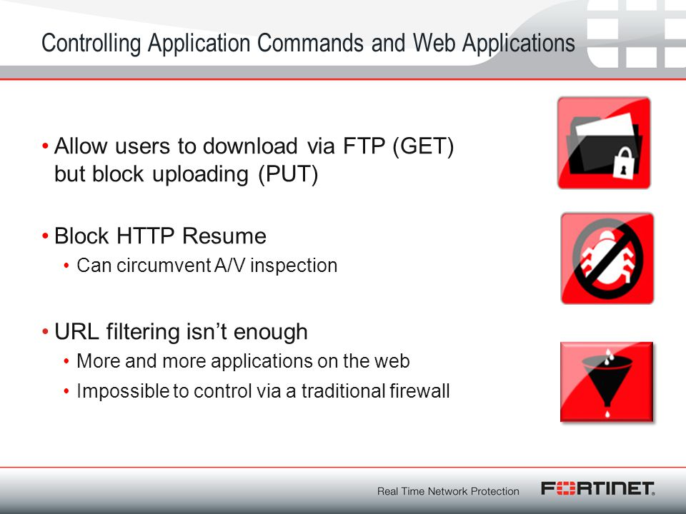 Controlling Application Commands and Web Applications
