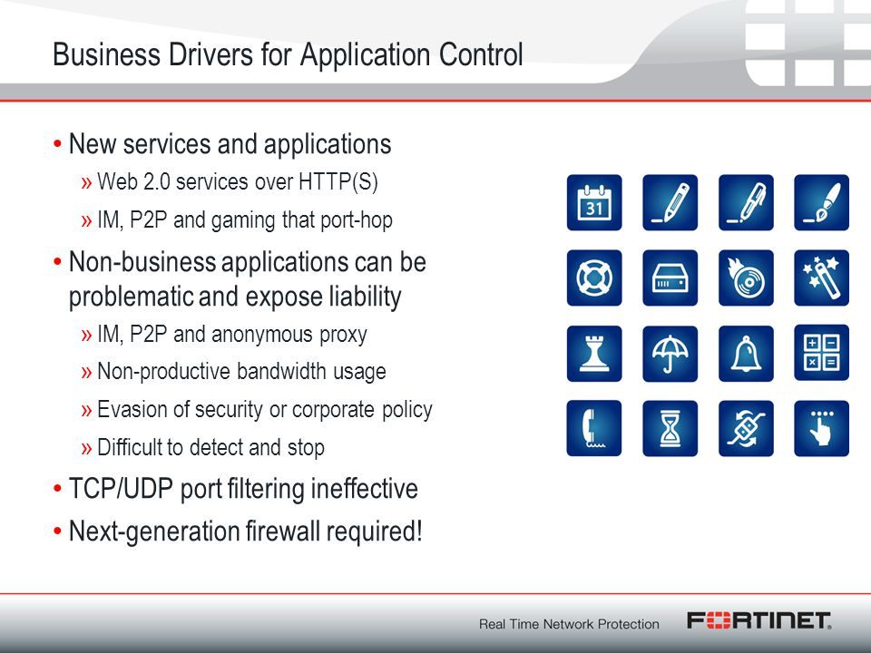 Business Drivers for Application Control