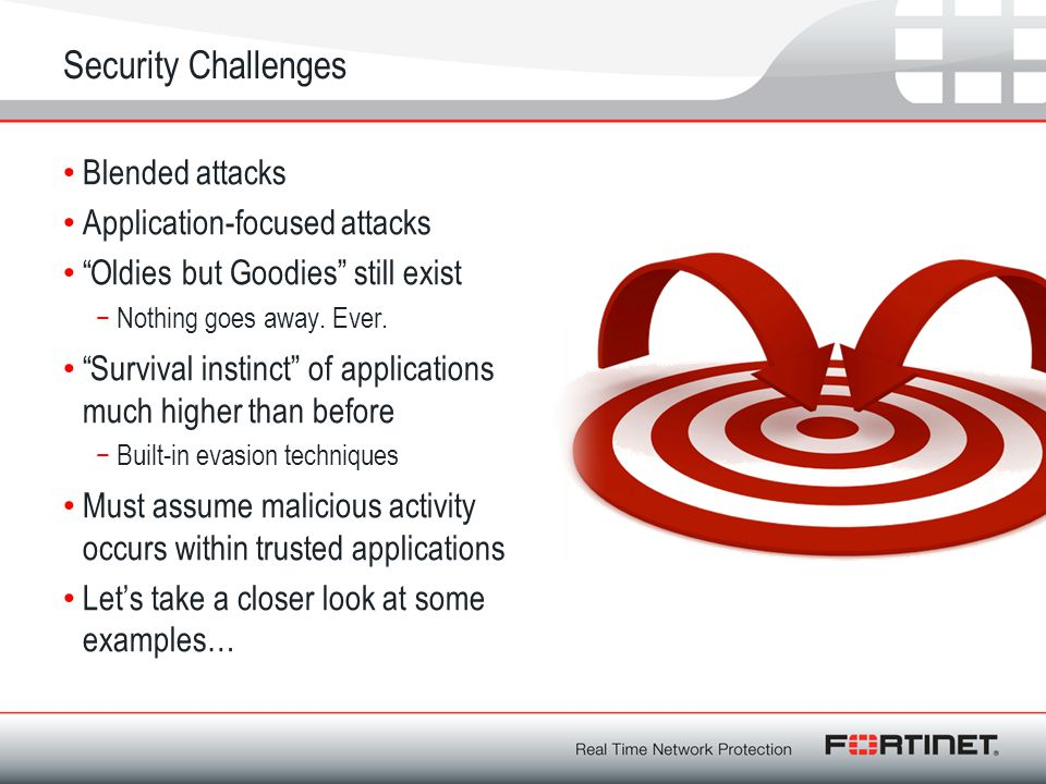 Security Challenges Blended attacks Application-focused attacks