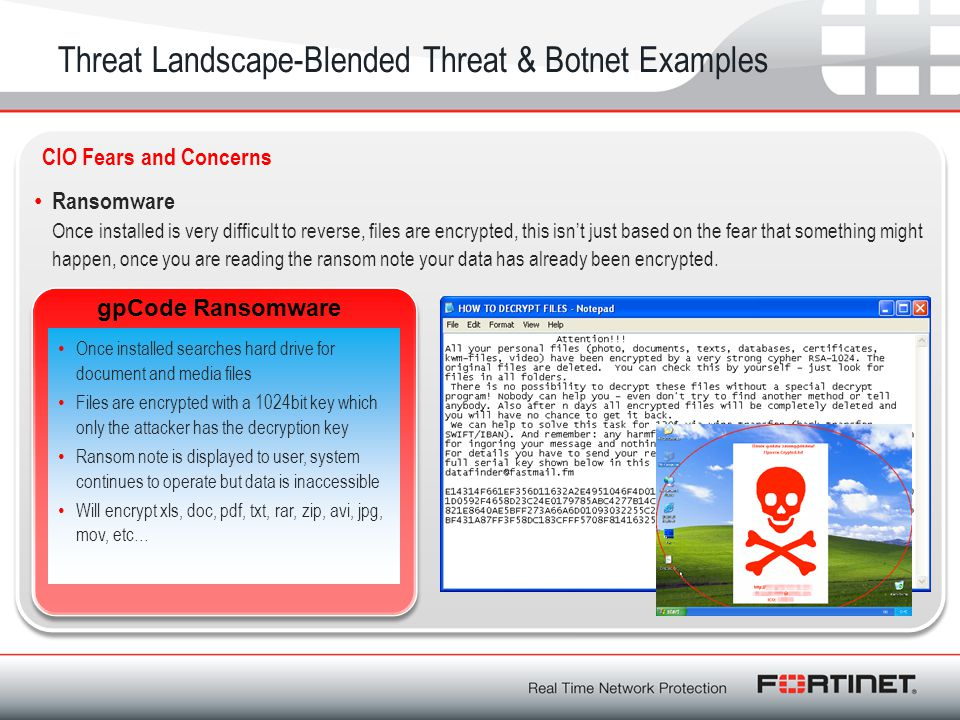 Threat Landscape-Blended Threat & Botnet Examples