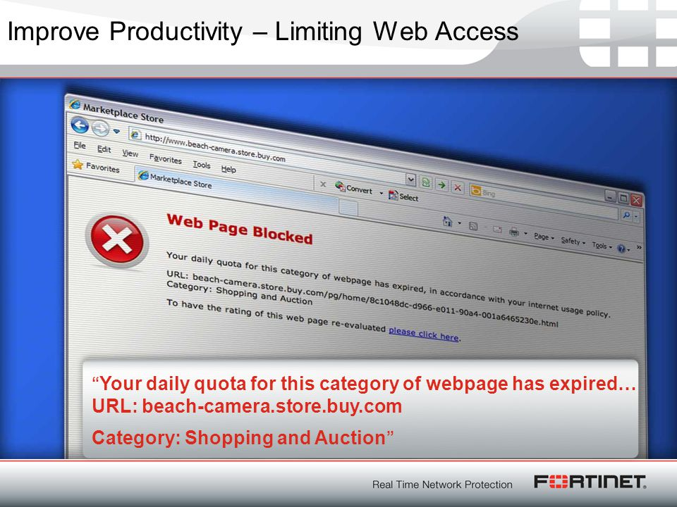 Improve Productivity – Limiting Web Access