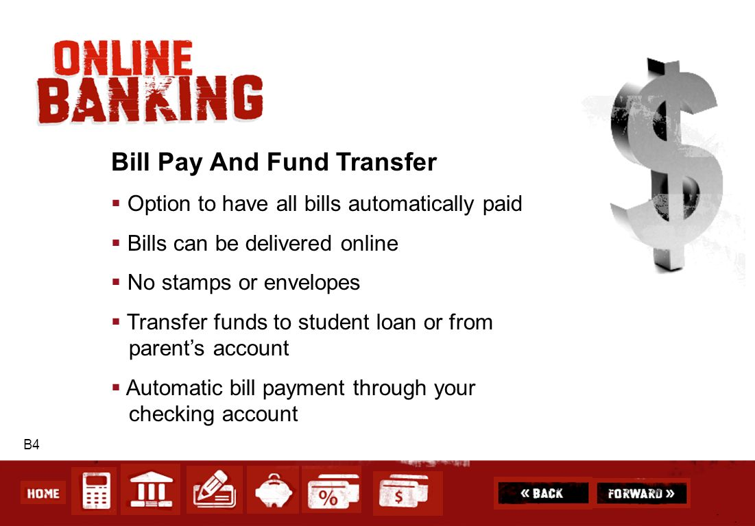Bill Pay And Fund Transfer
