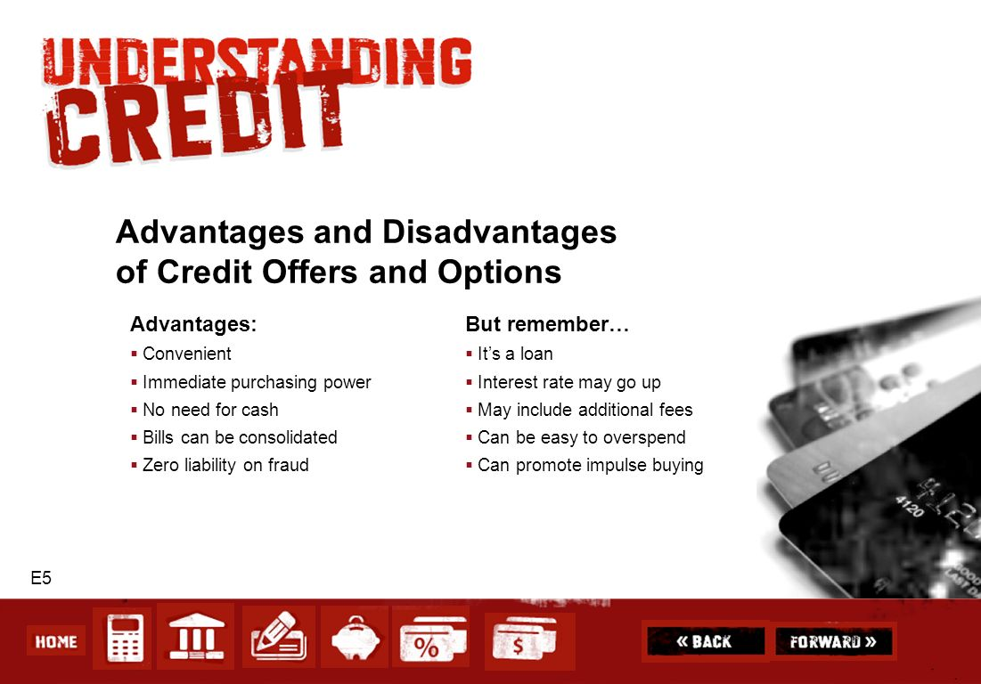 Advantages and Disadvantages of Credit Offers and Options