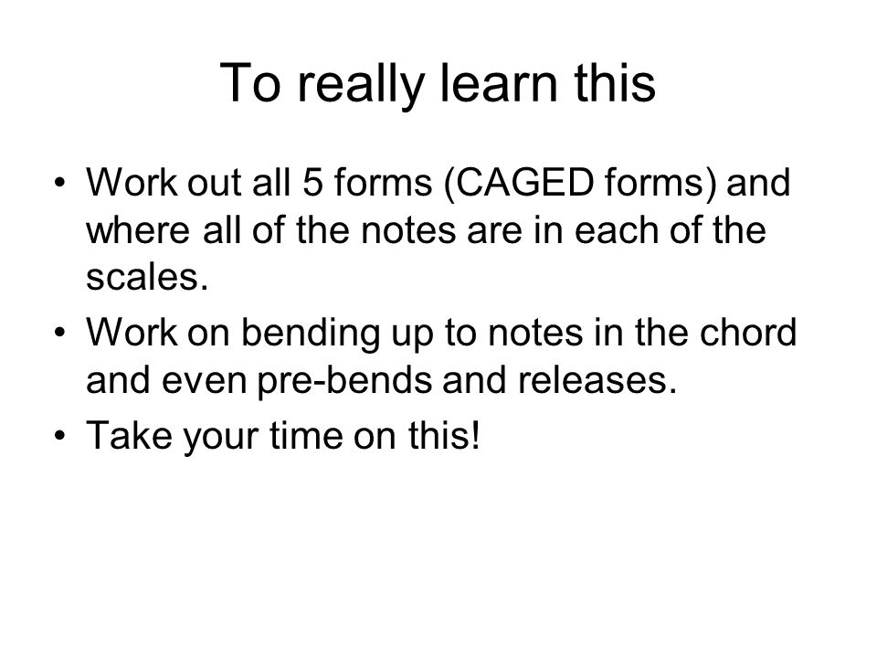 To really learn this Work out all 5 forms (CAGED forms) and where all of the notes are in each of the scales.