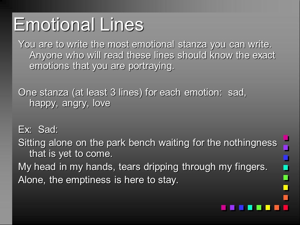 Emotional Lines