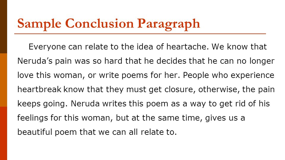 Sample Conclusion Paragraph