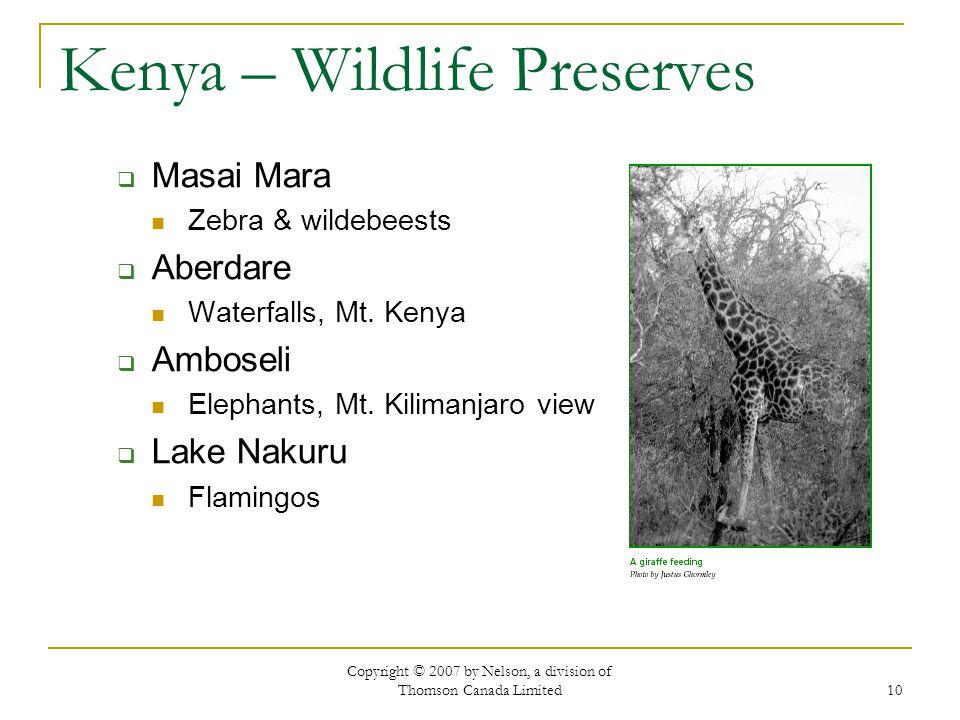 Kenya – Wildlife Preserves