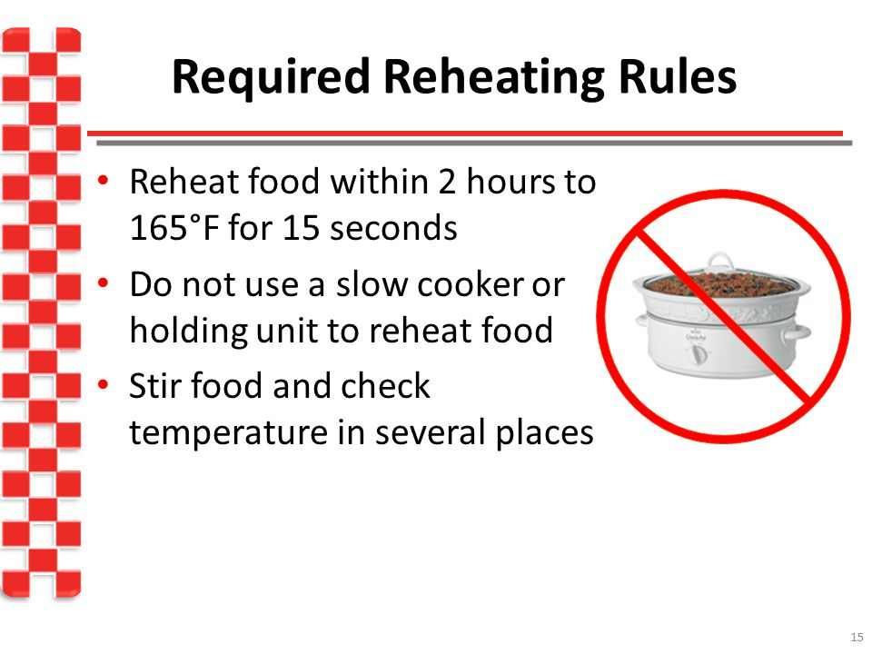 Required Reheating Rules