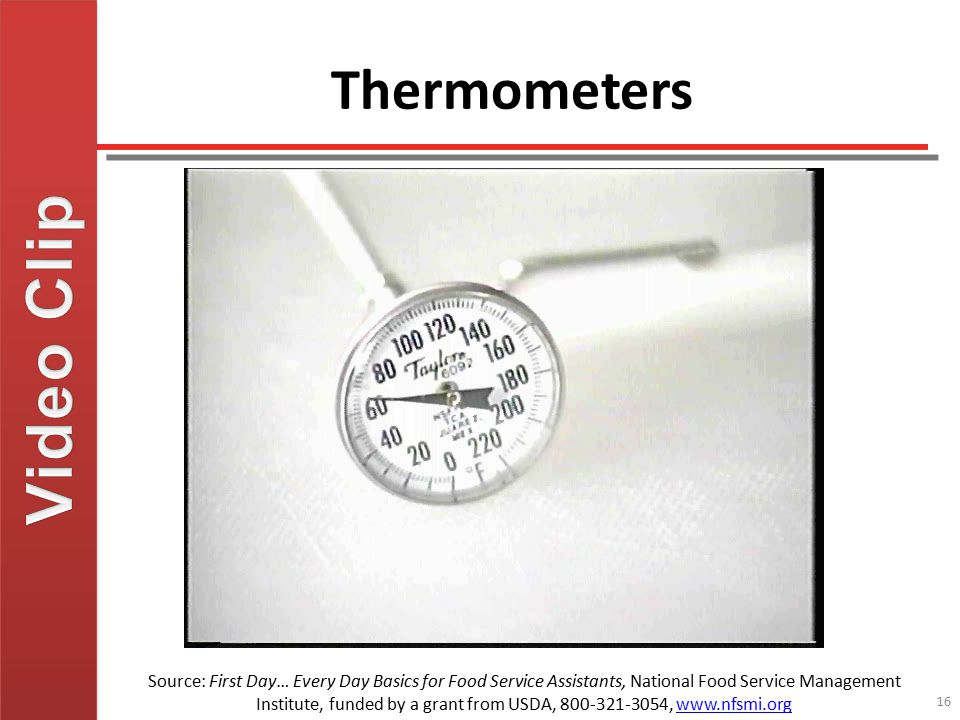 Video Clip Thermometers