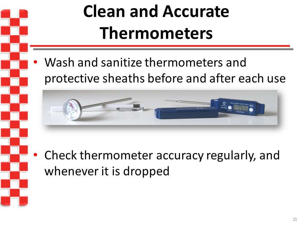 Clean and Accurate Thermometers