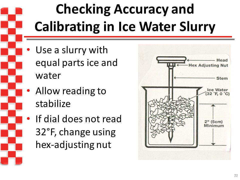 Checking Accuracy and Calibrating in Ice Water Slurry