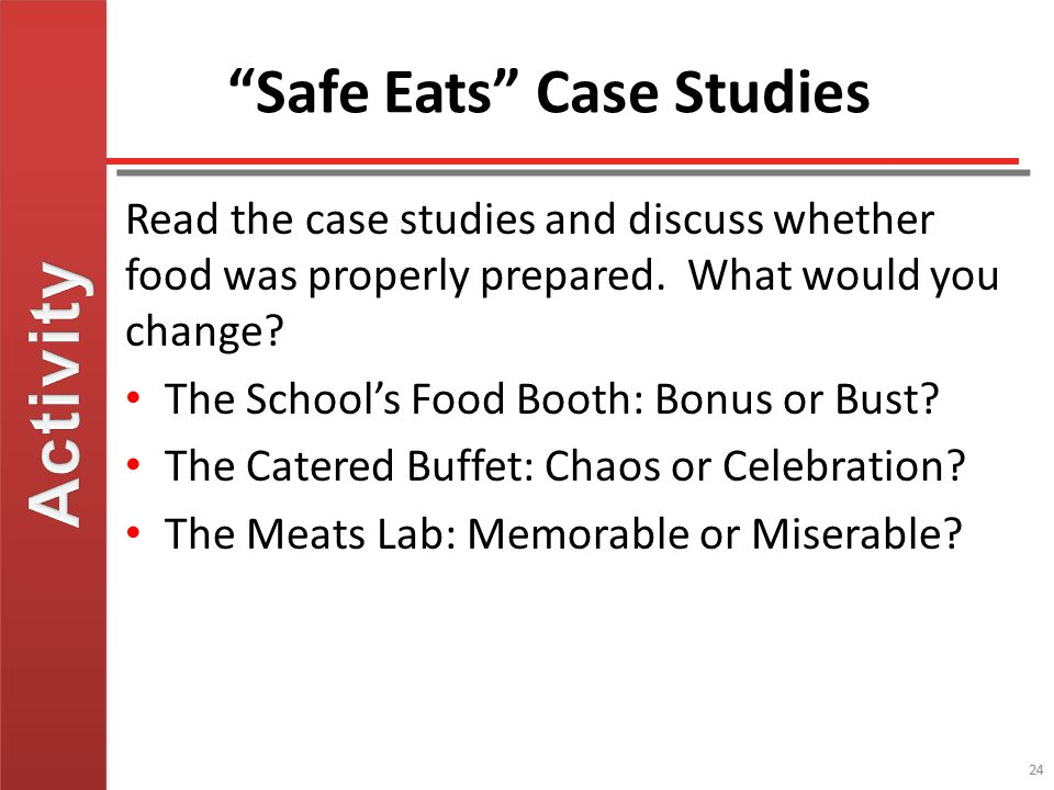 Safe Eats Case Studies