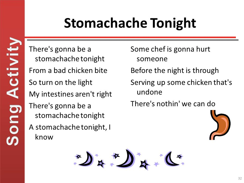 Song Activity Stomachache Tonight