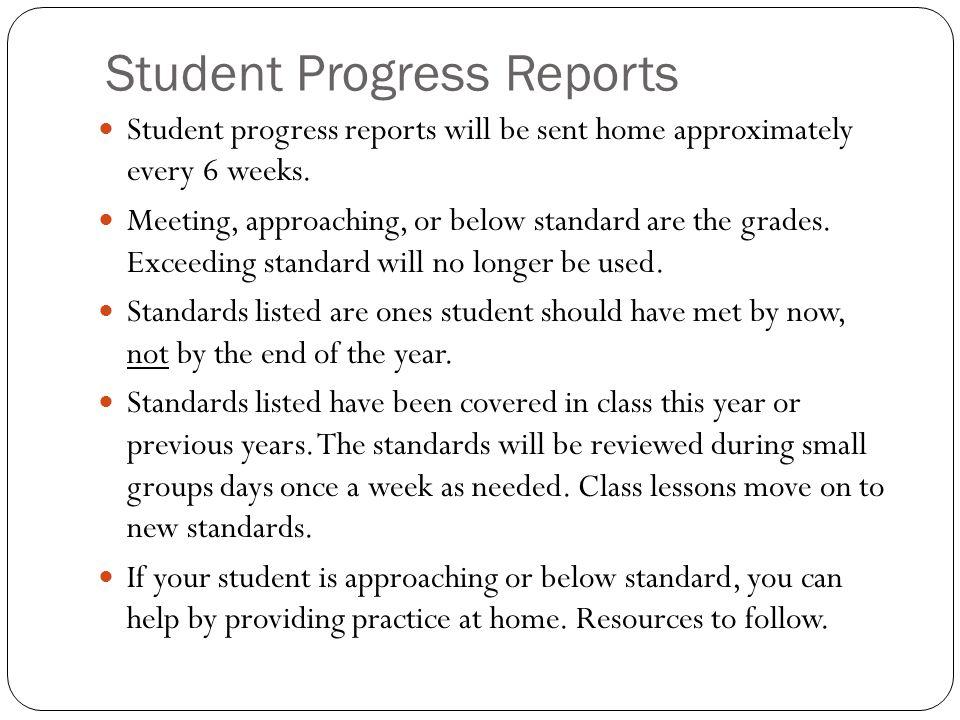 Student Progress Reports