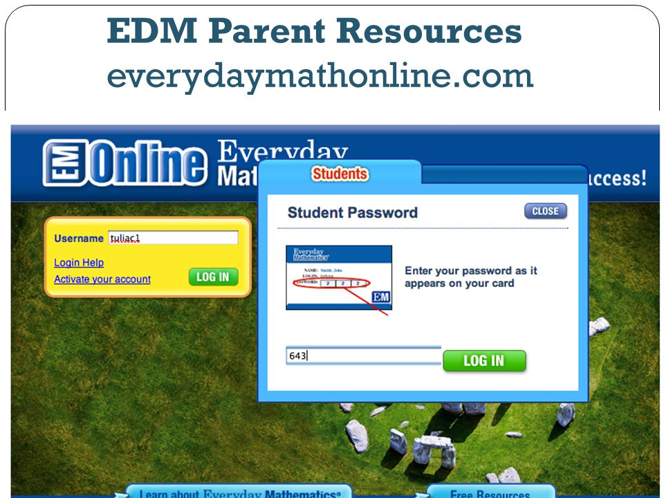 EDM Parent Resources everydaymathonline.com