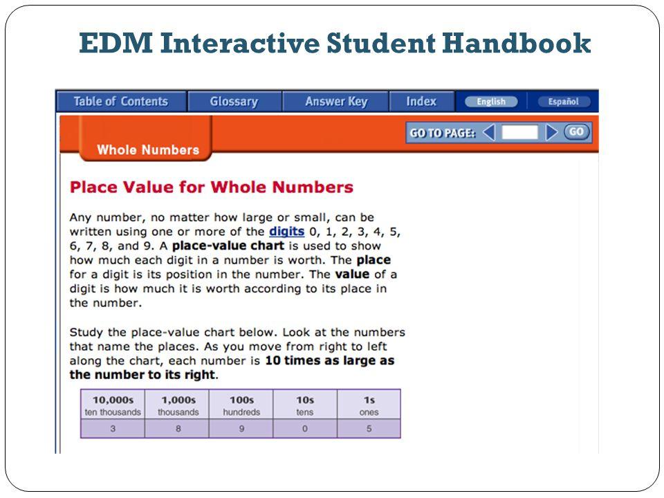 EDM Interactive Student Handbook