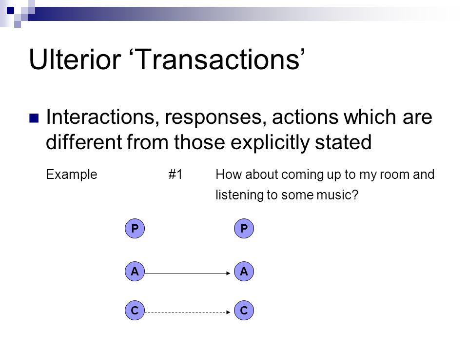 Ulterior 'Transactions'
