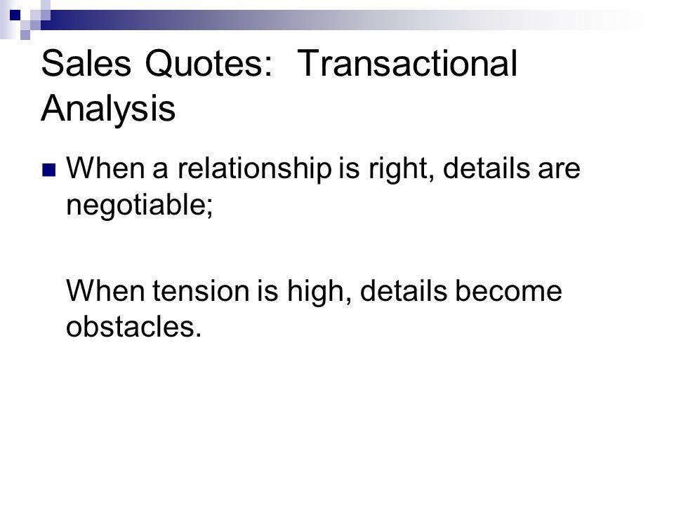 Sales Quotes: Transactional Analysis