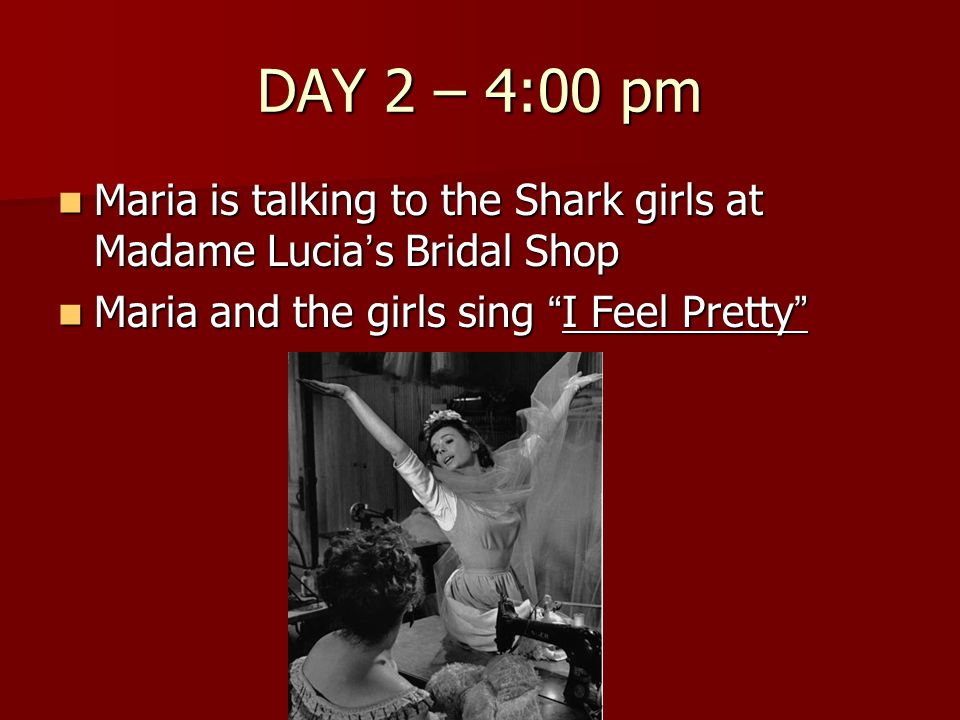 DAY 2 – 4:00 pm Maria is talking to the Shark girls at Madame Lucia's Bridal Shop.
