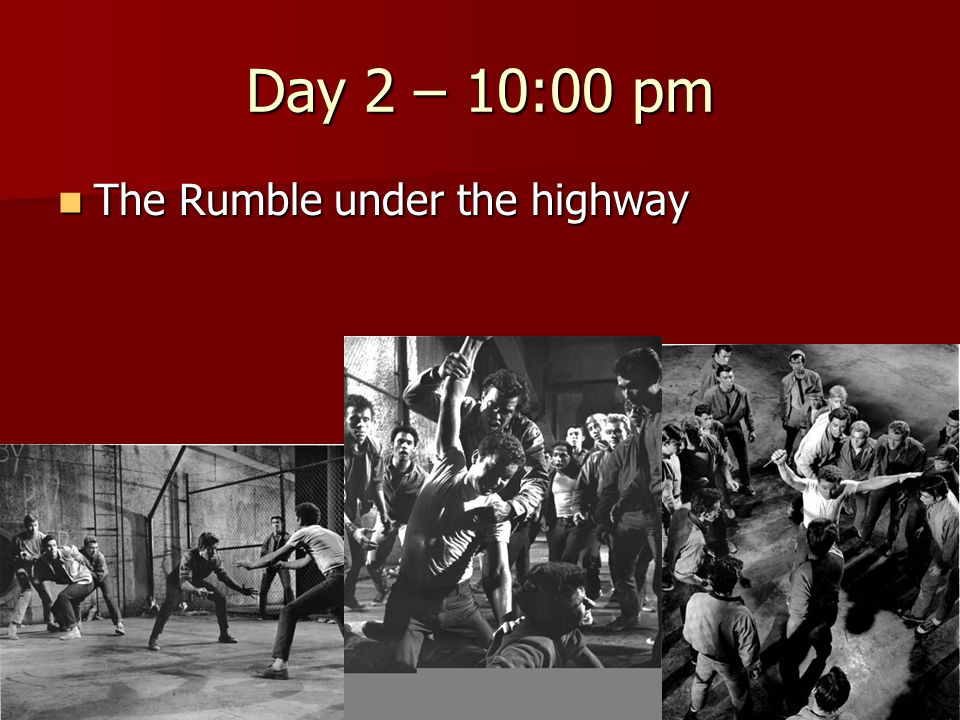 Day 2 – 10:00 pm The Rumble under the highway