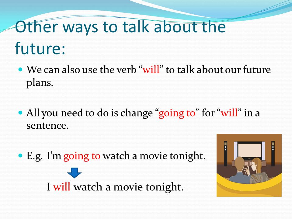 Other ways to talk about the future: