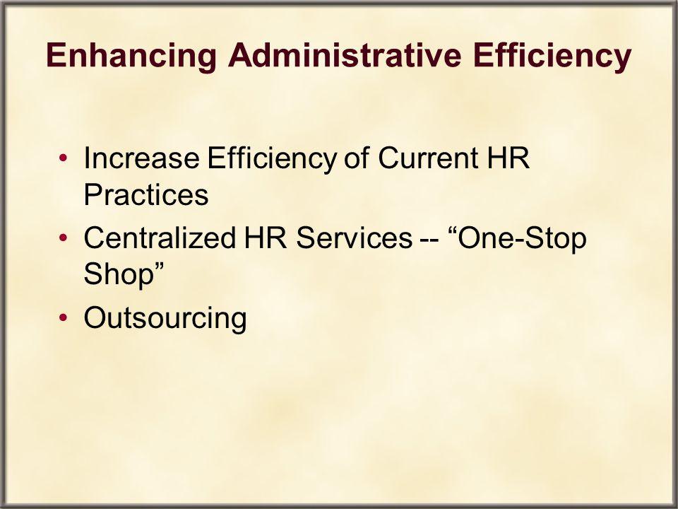Enhancing Administrative Efficiency