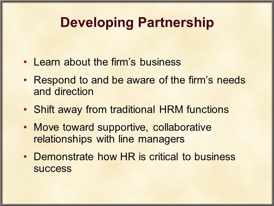 Developing Partnership