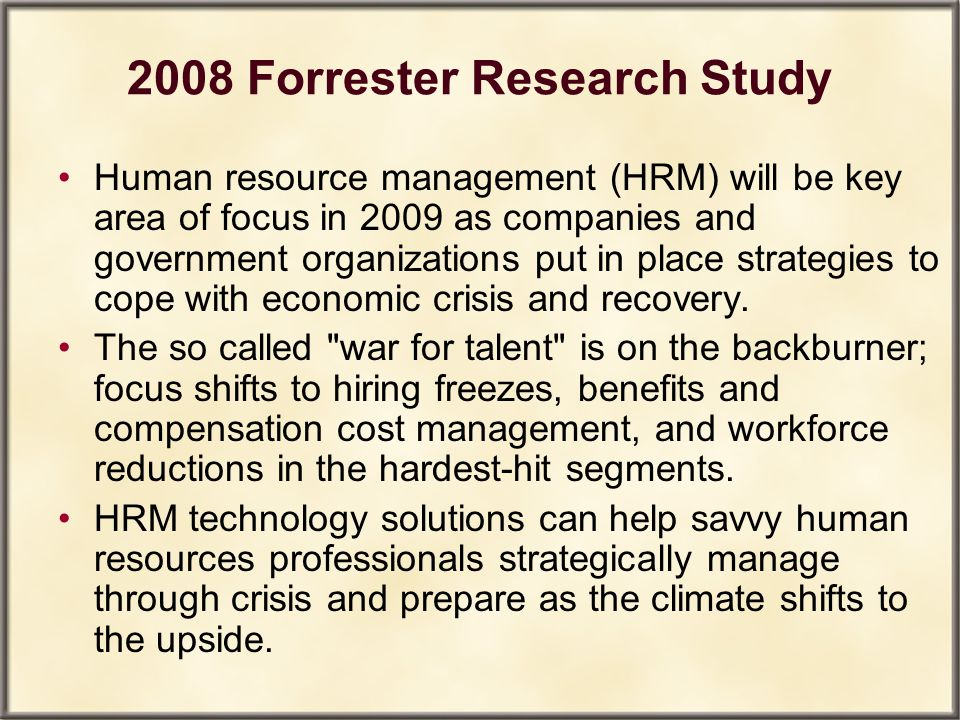 2008 Forrester Research Study