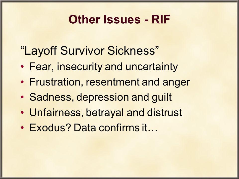 Layoff Survivor Sickness