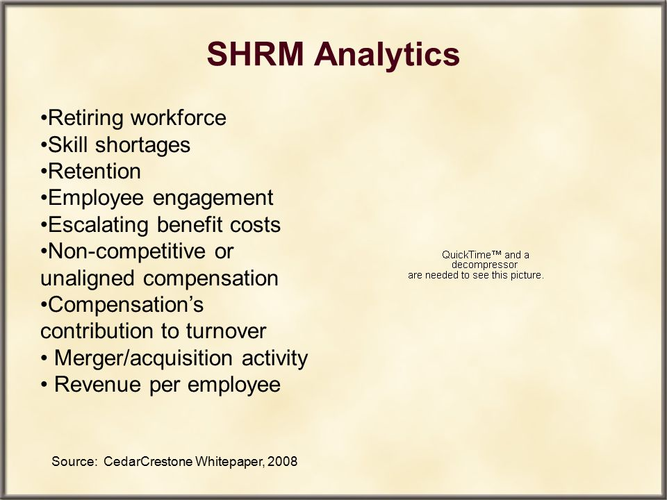 SHRM Analytics Retiring workforce Skill shortages Retention