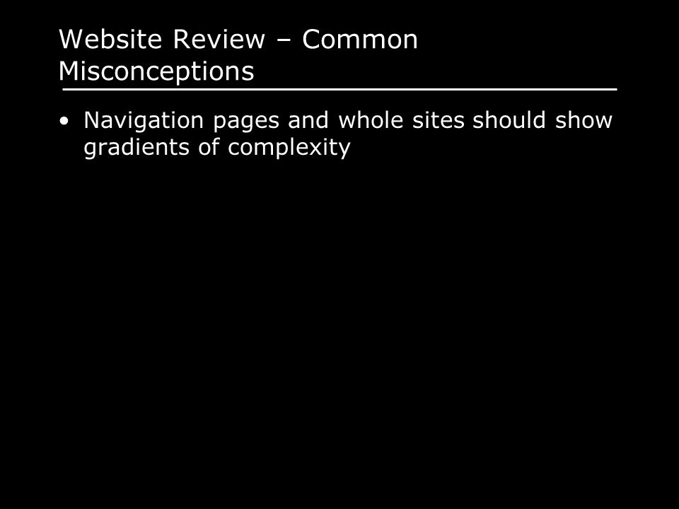 Website Review – Common Misconceptions