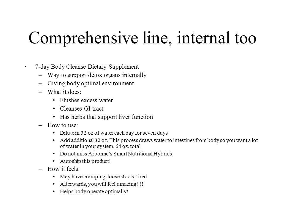 Comprehensive line, internal too