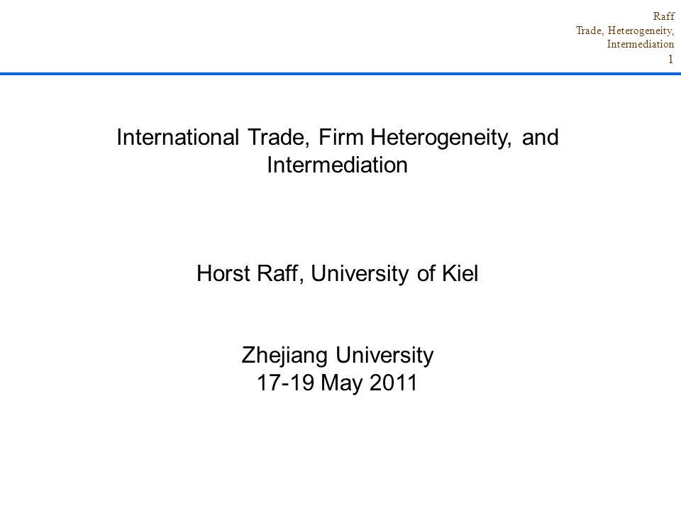 International Trade, Firm Heterogeneity, and Intermediation