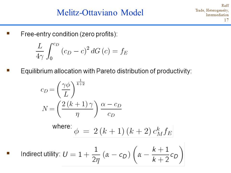 Melitz-Ottaviano Model