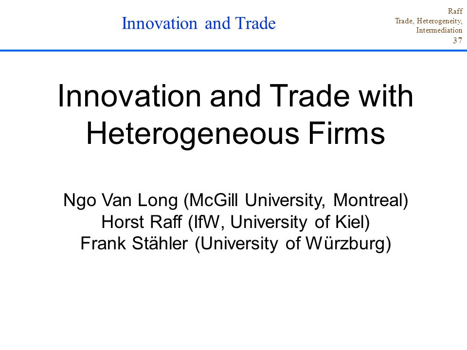 Innovation and Trade with Heterogeneous Firms