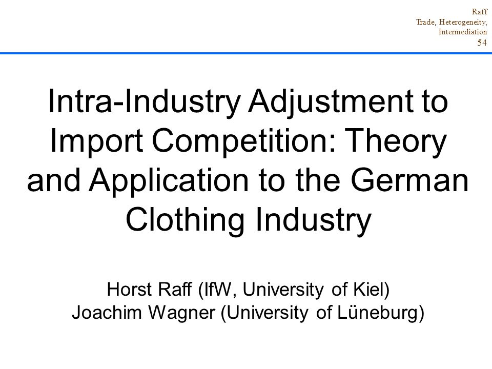 Intra-Industry Adjustment to Import Competition: Theory and Application to the German Clothing Industry