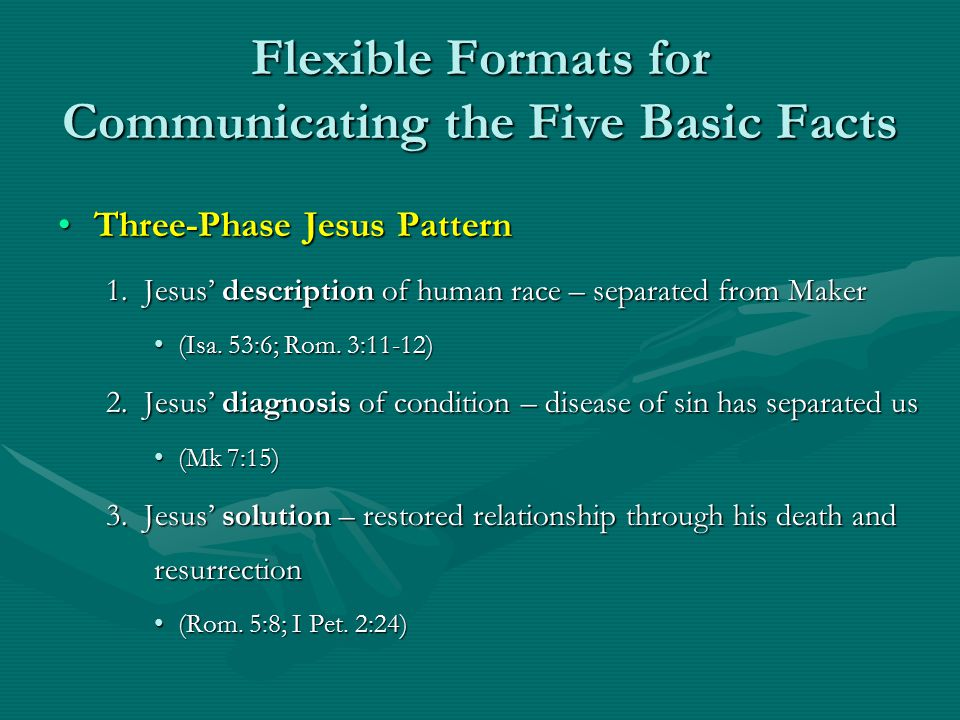 Flexible Formats for Communicating the Five Basic Facts