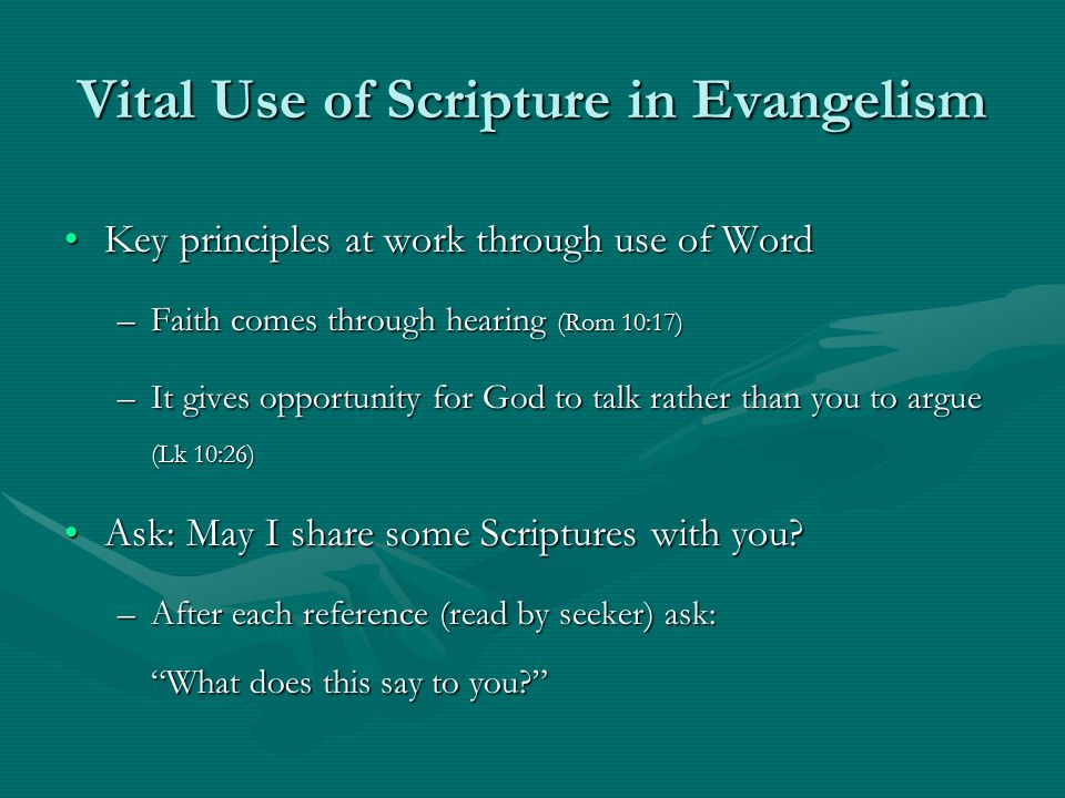 Vital Use of Scripture in Evangelism