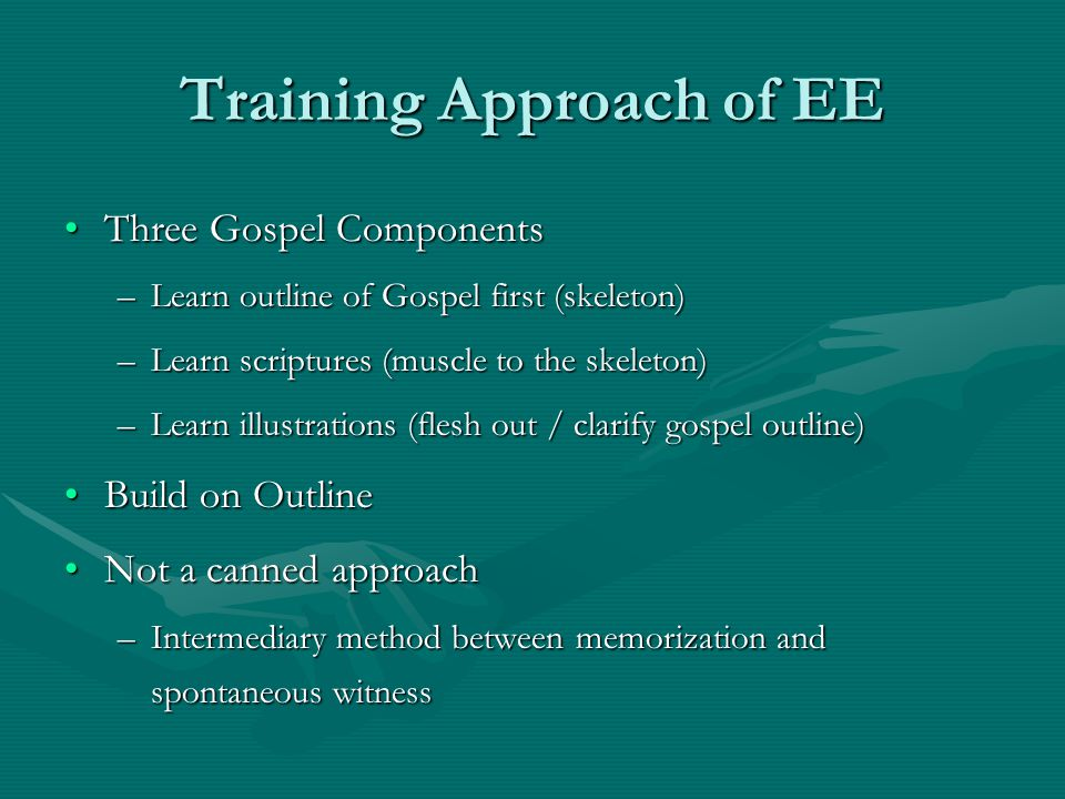 Training Approach of EE