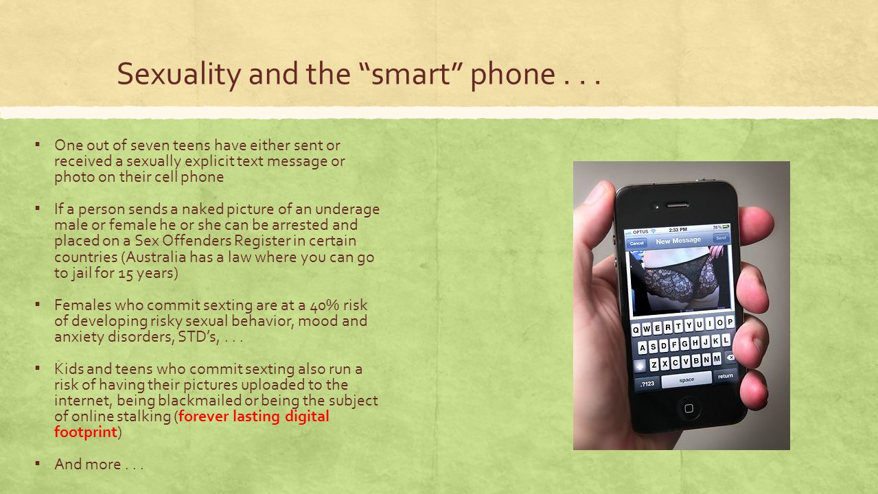 Sexuality and the smart phone . . .