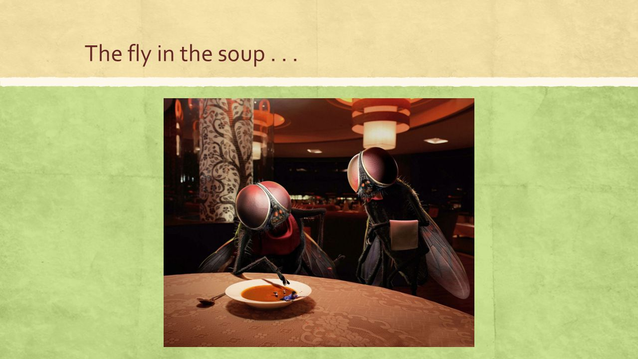 The fly in the soup . . .
