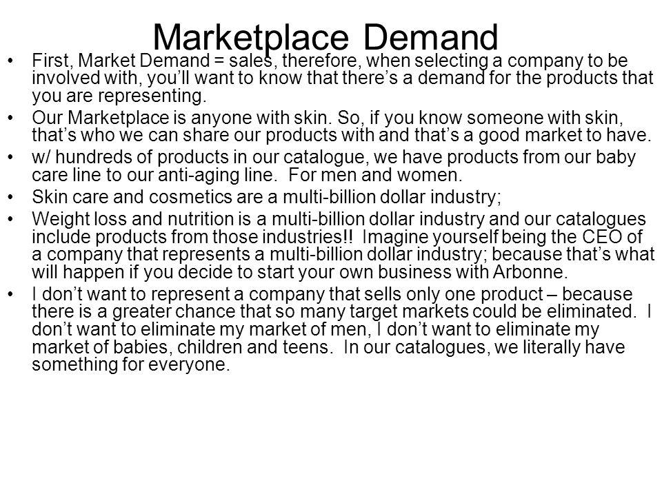 Marketplace Demand