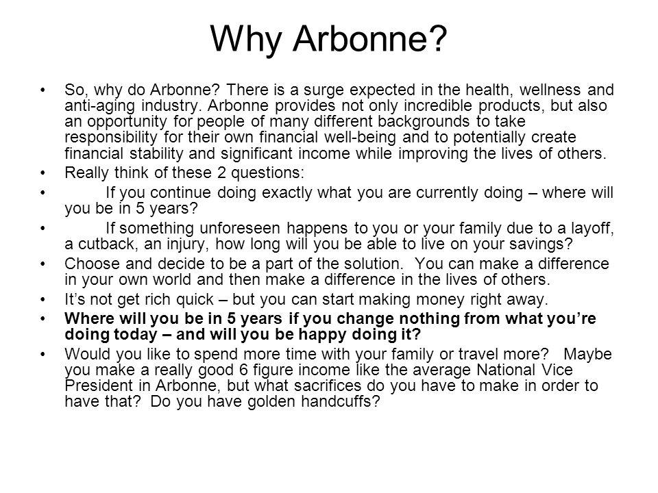 Why Arbonne