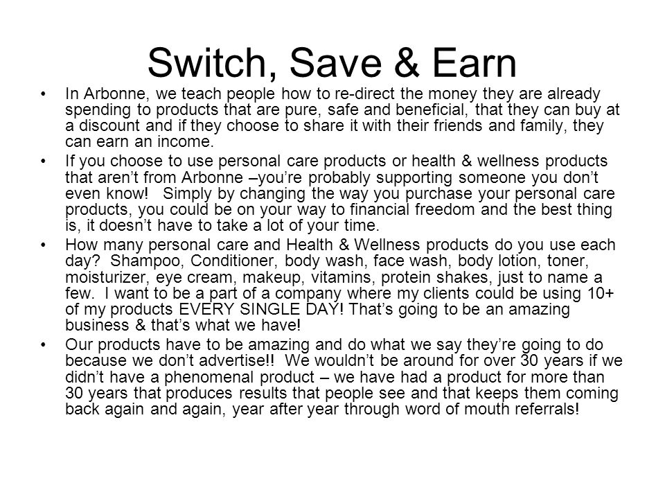 Switch, Save & Earn